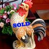 Henri Studios Handsigned Cast Stone Rooster