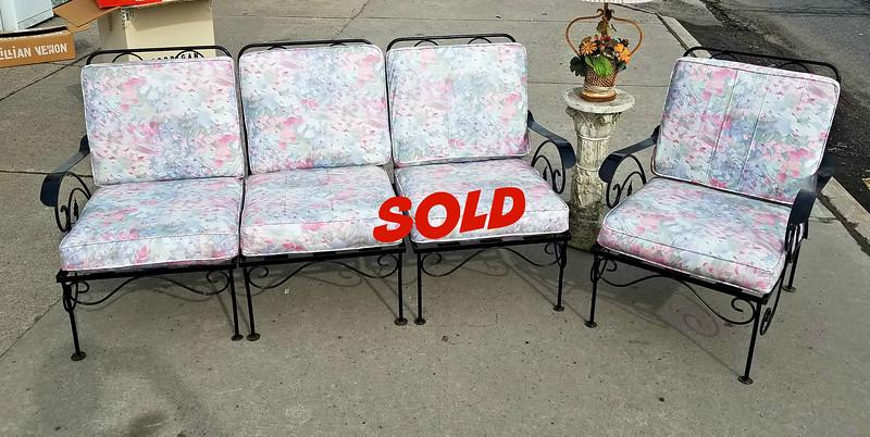 Wrought Iron Sofa and Sofa Chair