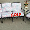 Wrought Iron Sofa and Sofa Chair