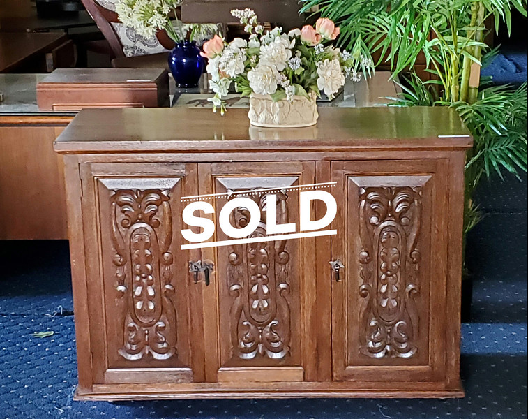 70's Solid Wood Buffet