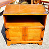 Solid Wood Glass Top TV Cabinet.  30 x 18 x 31.  <b>$75</b>