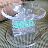 Lucite Spiral Staircase End Table