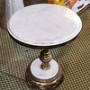 White Marble Top Side Table