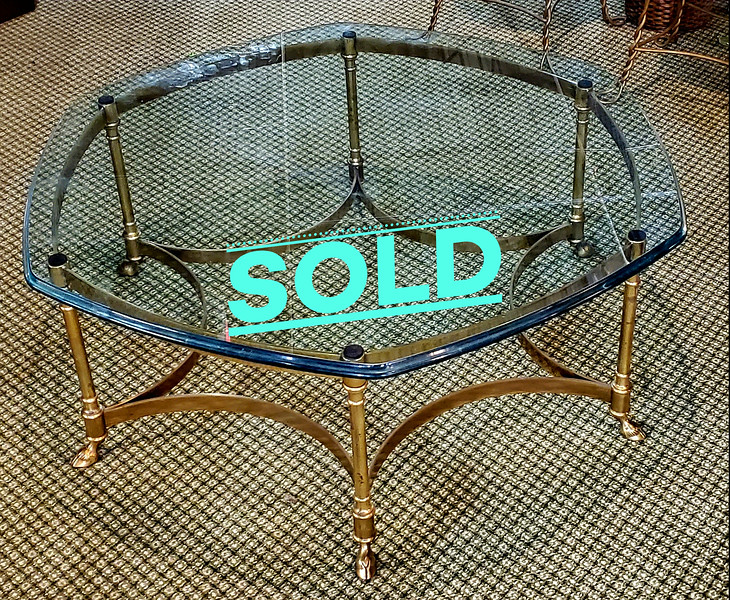 Beveled Glass Coffee Table