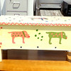 Unique Hand-Painted Doggie Chest.  46 x 10 x 12.  <b>$75</b>
