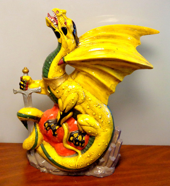 Dragon with Sword.  13 x 6 x 17.  <b>$20</b>