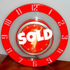 "Retro Telechron 2H39 ""Originality"" (1952-1956) Wall Clock.  Good working order.  9-Inch diameter.  Chip under 7 o'clock.  <b>$30</b>"