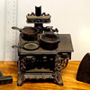 Miniature Cast Iron Wood Stove.  Oven door is not available.    <b>$45</b>