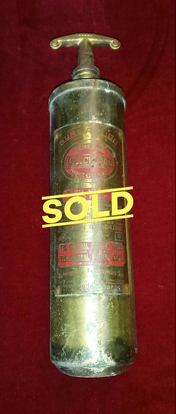1930's General Quick Aid Fire Extinguisher.  A great addition to any vintage collection.  <b>$45</b>