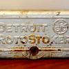 Detroit RotoStoker Commercial Furnace Logo Plate..  The legendary Detroit Stoker Company was established in 1898 and is the world's leading manufacturer of fuel burning stokers.  Detroit Stoker manufactures combustion equipment and combustion systems manufacturered for industrial, municipal and independent power producers. <b>$60</b>