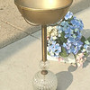 Unique Vintage Brass Pedestal Ashtray.  10 x 25.  <b>$75</b>