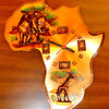 Continent of Africa Wall Clock.  11 x 12.  <b>$25</b>