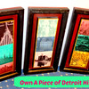 3-Section Solid Wood Bar Art From The Detroit Renaissance Hotel.  Own a piece of history.  Each section contains 3 classic photos from Detroit history.  Each section measures: 12 x 2 x 24.  <b>$150</b>