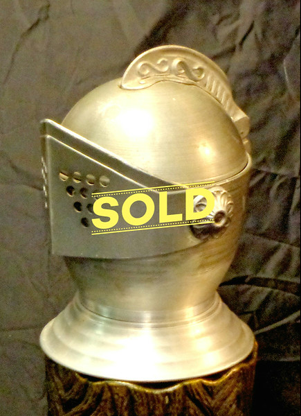 Medieval Knight Helmet Vintage Ice Bucket