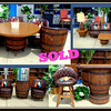 <b>Available at our Livernois Store Location - (313) 345-0884. </b>  Amazing Whiskey Barrel Furniture Set.  Made in the 1940's by <i>Brothers Furniture Company.</i>  They are totally unique.... they swivel... and they look AWESOME! Sit back with a glass of Kentucky's finest in these very cool, super comfortable whiskey barrel furniture pieces. Made in the late 1960's from old whiskey barrels with attached swivel rockers, this set is robustly built and the incredibly cool chairs will make a serious statement. Table: 48 x 27.  Chairs: 26 x 26 x 32.  Sofa: 100 x 31 x 31.  Coffee Table: 42 x 24 17 1/2.  End Tables: 24 x 17 1/2.  Lamps: 17 1/2 x 34.  Bar: 49 x 24 x 42.  Bar Stools: 25 x 27 x 28 x 38 1/2.  5-Chair Set: 26 x 25 x 33.  <b></b>