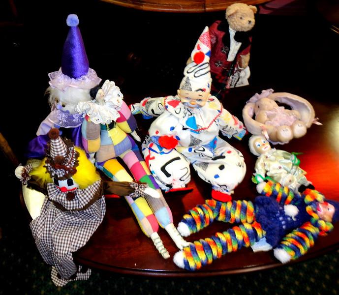 Assortment Clown Puppets.  <b>$5 to $15</b>