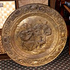 Large Ornamental Brass Hanging Plate