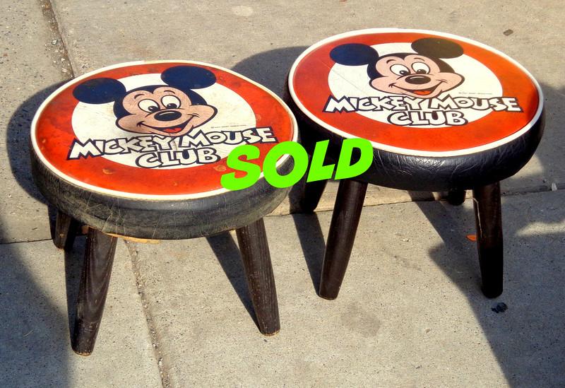 Rare Vintage Original 14-Inch Mickey Mouse Club Stool.  <b>$40 each.</b>
