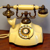 French Provincial Desk Top Telephone in Very Good Condition.  11 x 8 x 8.  <b>$95</b>