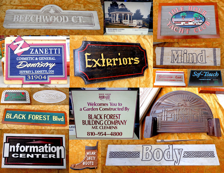 Unique Assortment of Signs ~ Odd & Unusual Accents.  Stop by the store and  pick up a few of these unique (often one-of-a-kind) signs to add an eclectic touch to home or commercial establishment.  Some of them may not maker any sense, but that's part of the fun....  <i>We don't keep track of individual signs when they sell. so inventory will vary.</I>  <b>Make A Fair Offer.</b>