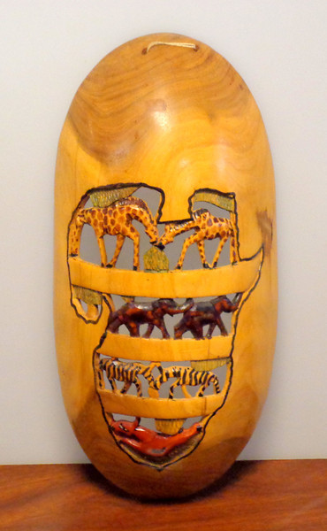 Hand Carved African Wood Ritual Mask in Very Good Condition.  6 x 12.  <b>$40</b>