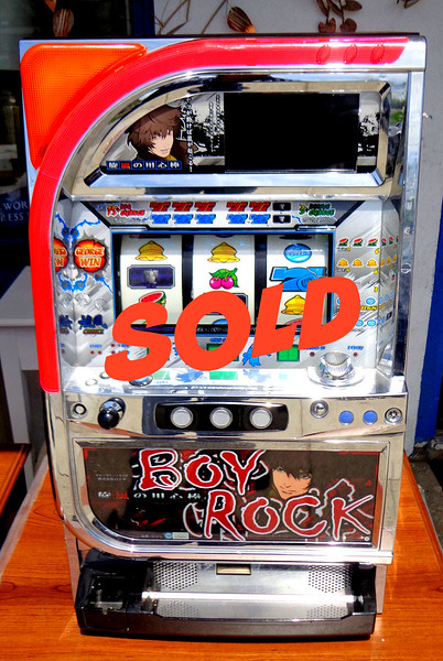 """Exciting """"Boy Rock"""" Token Slot Machine in Like New Condition.  <b>$295</b>"""