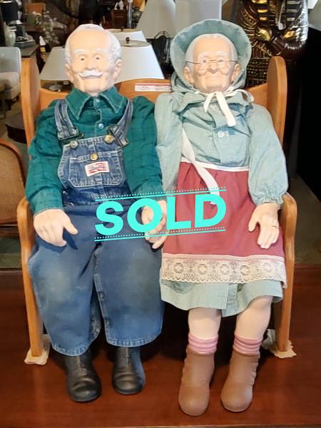 Grandma and Grandpa Porcelain Dolls