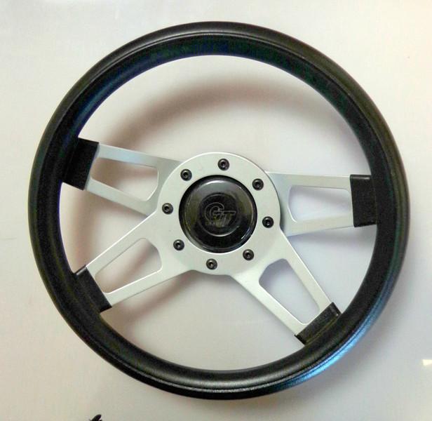 "Grant Spoke Design-Polished Spokes Steering Wheel.  13.5"" <b>$40</b>"