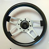 "Grant Spoke Design-Polished Spokes Steering Wheel.  13.5"" <b>$40</b>"