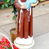 Beautiful 41-Inch Tall Religious Garden Statue on Pedestal Base.  <b>$95</b>