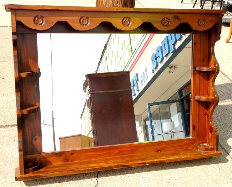 Mirrored Dresser Hutch.  54 x 7 x 40.  <b>$40</b>