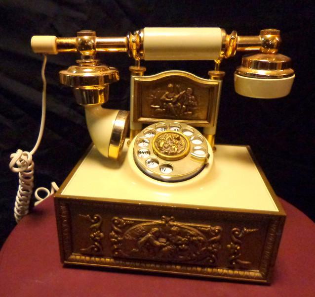 French Provincial Telephone.  8 x 6 1/2 x 9.  <b>$85</b>