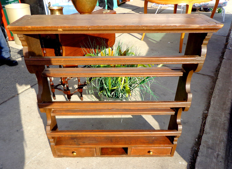 Unique Solid Wood Pantry Shelf.  34 x 9 x 35.  <b>$165</b>