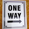 One Way Sign.  20 x 24.  <b></b>