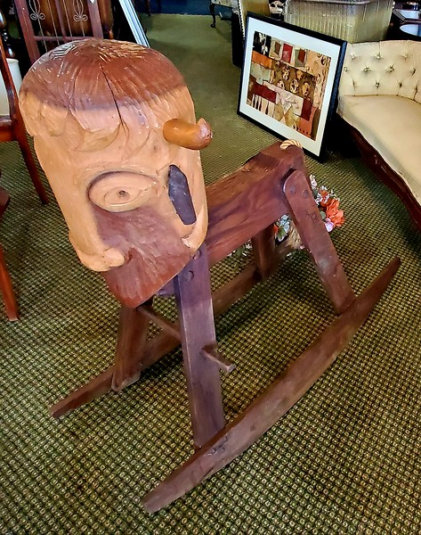 Buffalo Roam Children's Rocking Horse