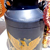 Black Federal Style Steel Milk Container.  <b>$75</b>