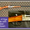 "Rare Vintage <i> Noble</i> 410ga Side by Side with 3-Inch Chamber.  26"" Barrel. Specialty shotgun.  Made in Spain.  Excellent condition.  <b>$525</b>"