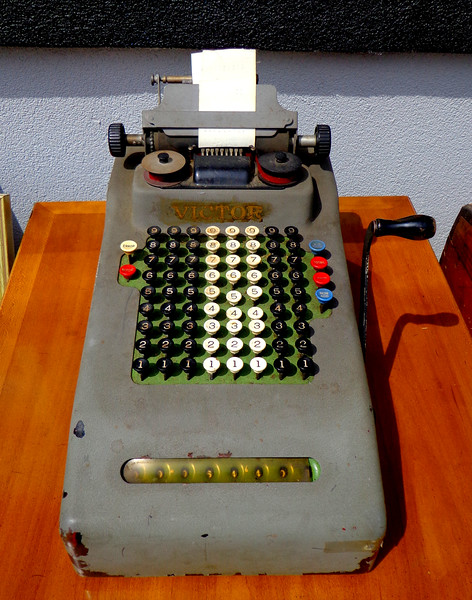 Vintage <i>Victor </i> Calculator Tabulator in Good Working Order.  <b>$50</b>