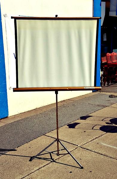 Vintage Movie Projector Screen