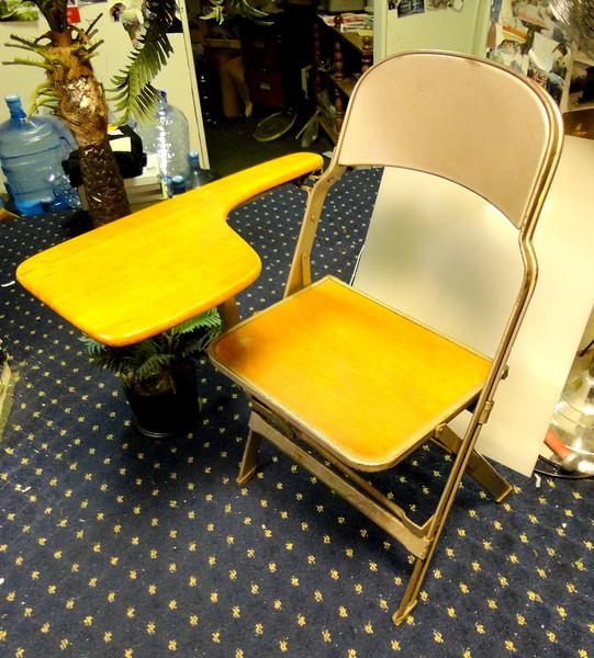 Vintage Student Desk School Chair Mid-Century Retro Folding Chair. Vintage student school desk & Vintage - FredsUniqueFurniture