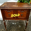 Vintage <i>Kenmore</i> Sewing Machine in Solid Wood Cabinet.  27 x 19 x 31.  <b></b>