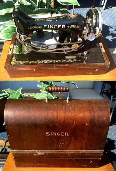 Vintage Singer Transportable Sewing Machine.  77 x 8 x 12.  <b>$95</b>