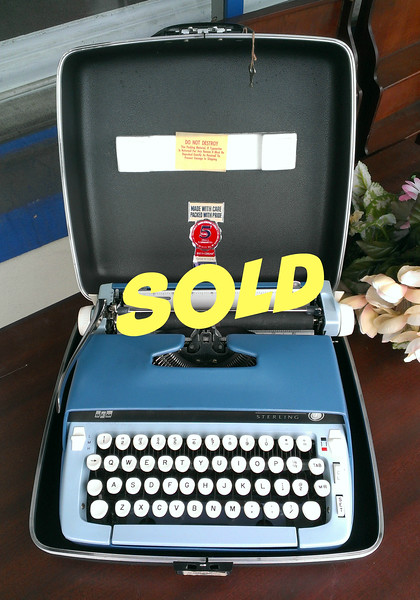 Hard-to-Find Vintage 1950's <i>Smith Corona Sterling </i>Portable Typewriter with Original Case in Excellent Condition.  Only lightly used.  Works great.  Extra nice.  <i>This typewriter sells for over $225 on Etsy or eBay.</i>   <b>Fred's Price: $95</b>