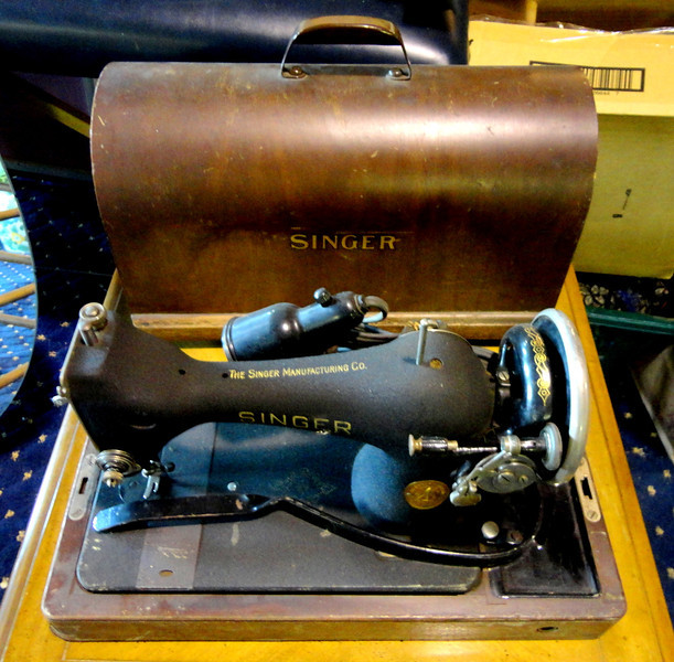 Well Maintained Vintage Sewing Machine in Transportable Case.  18 x 9 x 15.  <b>$65</b>