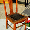 Vintage Tiger Oak Chair.  18 x 19 x 37.  <b>$40</b>
