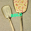 Vintage Hand Mirror w/Matching Brush.  Back of brush is similarly finished like back of mirror.  Excellent condition.<b>$45</b>