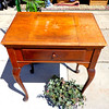 Vintage Singer Sewing Machine in Solid Wood Cabinet.  26 x 18 x 31.  <b>$75</b>