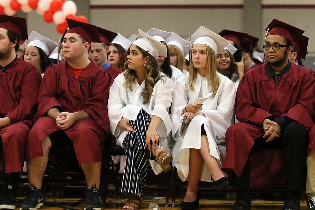 . Scenes from the Goodrich Academy Class of 2018 graduation on Thursday 31, 2018 at the Fitchburg High School field house. SENTINEL & ENTERPRISE/JOHN LOVE