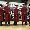 Scenes from the Fitchburg Goodrich Academy graduation at Fitchburg High School on Thursday June 1, 2017. Graduates line up to get their diplomas. SENTINEL & ENTERPRISE/JOHN LOVE