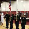 Scenes from the Fitchburg Goodrich Academy graduation at Fitchburg High School on Thursday June 1, 2017. The Fitchburg Hiigh School new JRROTC present the colors during the start of the ceremony. SENTINEL & ENTERPRISE/JOHN LOVE